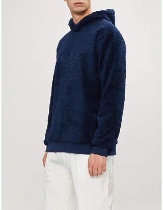 adidas Logo-embroidered fleece hoody