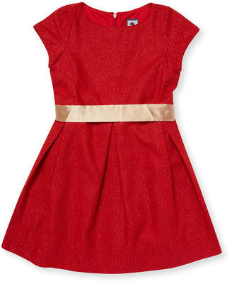 Busy Bees Box Wool Pleated Dress