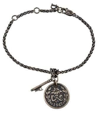 Christian Dior Coin & Key Charm Bracelet
