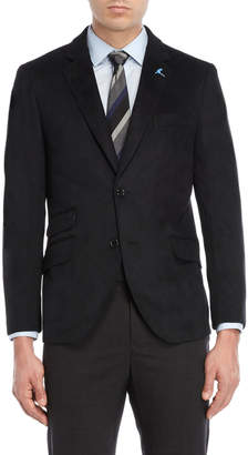 Tailorbyrd Black Micro Suede Sport Coat