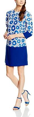 Almost Famous Women's Floral Block Tunic 3/4 Sleeve Dress