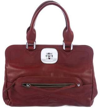 Longchamp Leather Gatsby Satchel