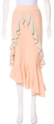 Jonathan Simkhai Ruffle-Trimmed Asymmetrical Skirt