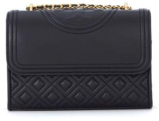 Tory Burch Fleming Small Black Leather Shoulder Bag