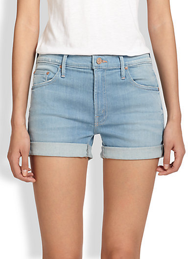 Mother Dropout Cuffed Denim Shorts