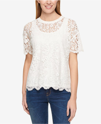 Tommy Hilfiger Lace T-Shirt, Only at Macy's $79.50 thestylecure.com