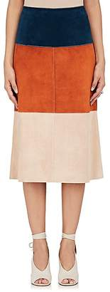 Derek Lam WOMEN'S COLORBLOCKED LEATHER SKIRT