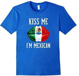 Kiss Me! I'm Mexican! Mexican Flag Lips! Viva Mexico T-Shirt