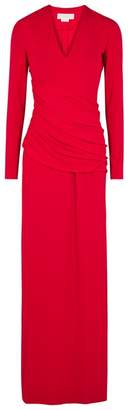 Genny Red Ruched Jersey Gown