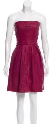 Thakoon Strapless Leather Dress