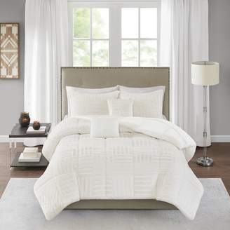 Madison Home USA Polar Faux Fur 5-piece Comforter Set