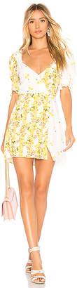 For Love & Lemons Savannah Wrap Mini Dress
