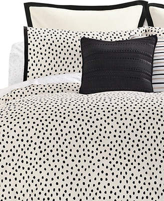 Kate Spade Flamingo Dot Three-Piece 272 Thread Count Cotton Duvet Set