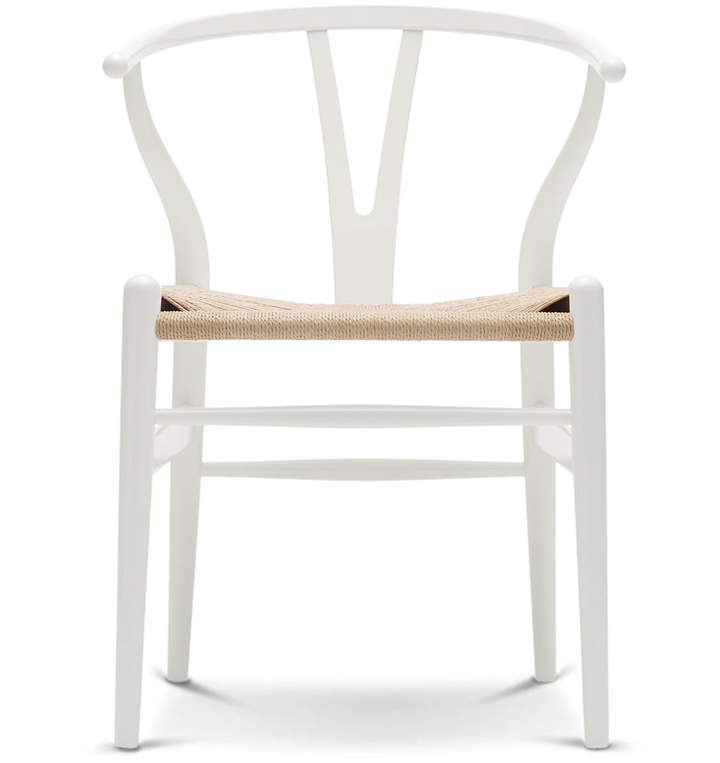 Carl Hansen - CH24 Wishbone Chair, Buche Weiß / Naturgeflecht