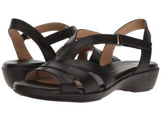 51766aa423da Naturalizer Black Leather Upper Women s Sandals - ShopStyle