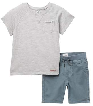 Hudson Slub Jersey Tee & Pull-On Shorts Set (Toddler Boys)