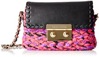 Juicy Couture Black Label Micro Crossbody Tweed Bag with Flap Closure and Leather and Chain Strap $149.86 thestylecure.com