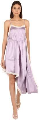 MM6 MAISON MARGIELA ASYMMETRIC SATIN & LACE DRESS