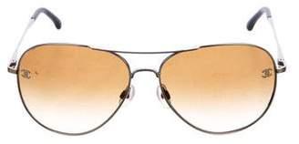 Chanel CC Pilot Sunglasses