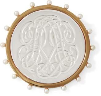 Ralph Lauren RR-Engraved Brooch