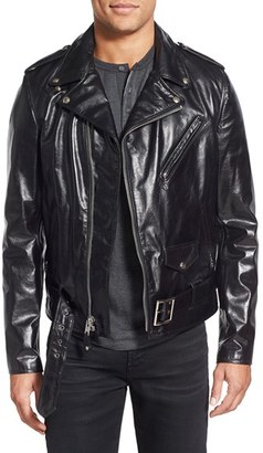 Men's Schott Nyc Perfecto Regular Fit Waxy Leather Moto Jacket $785 thestylecure.com