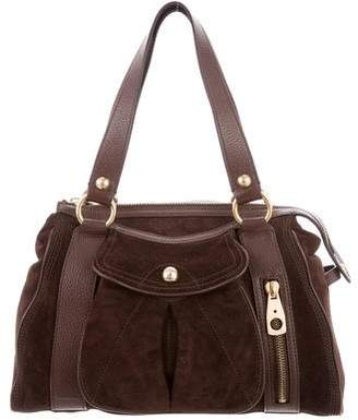 b840c8f751ae Celine Leather-Trimmed Suede Bag