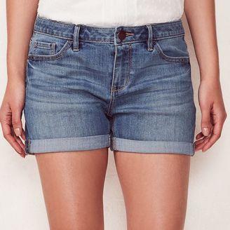 Women's LC Lauren Conrad Cuffed Jean Shorts $44 thestylecure.com