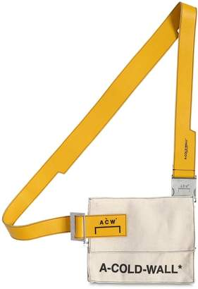 A-Cold-Wall* Canvas Utility Bag W/ Leather Strap