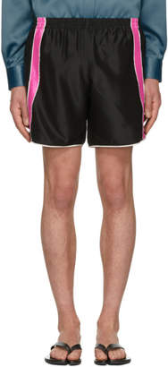 Ribeyron Black and Pink Fitness Shorts