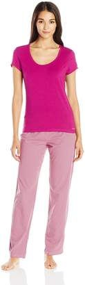 Calvin Klein Women's Sleepwear Short Sleeve Pajama Top and Pant Set