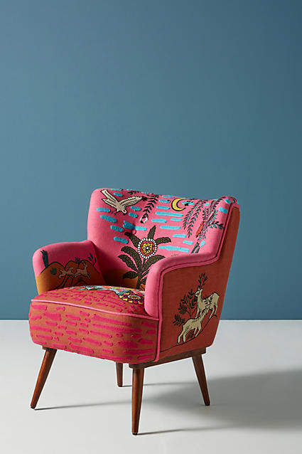 Anthropologie Imagined World Accent Chair
