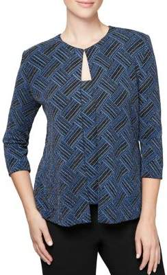 Alex Evenings Two-Piece Printed Top & Jacket