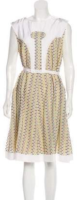 Fendi Sleeveless Fit and Flare Dress