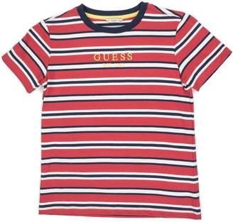 GUESS Boy's Logo Striped Cotton Tee