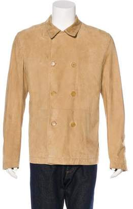 Christian Dior Double-Breasted Suede Jacket