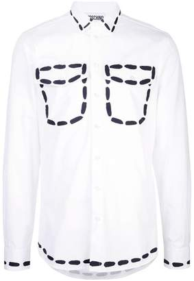 Moschino oversized stitch print shirt