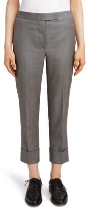 Thom Browne Twill Cuffed Pants