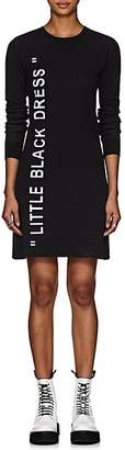 "Off-White Women's ""Little Black Dress"" Intarsia-Knit Sweaterdress - Black"