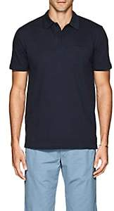 Sunspel Men's Riviera Cotton Polo Shirt - Navy