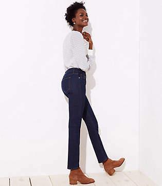 LOFT Modern Straight Leg Jeans in Dark Rinse Wash