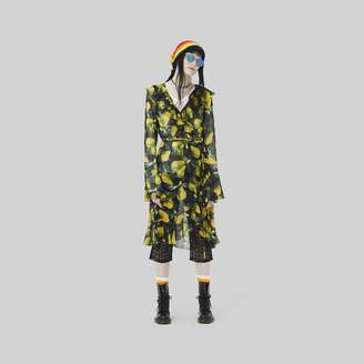 Marc Jacobs Printed Bell-Sleeve Wrap Dress