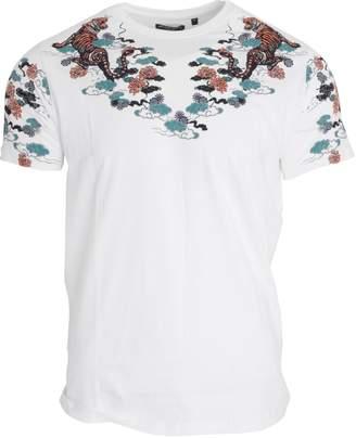 Brave Soul Mens Oriental Print Short Sleeve T-Shirt (XL)