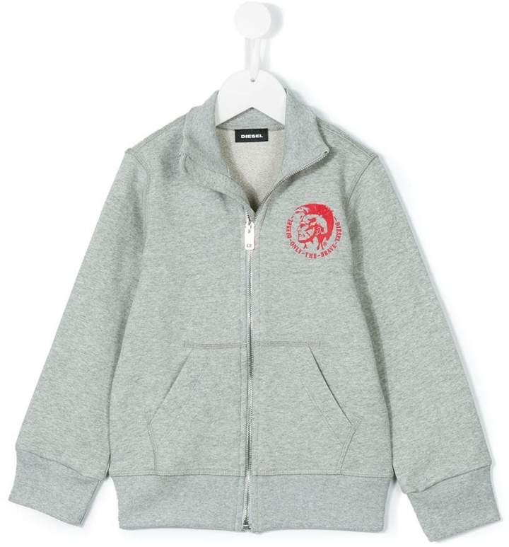 logo print jacket