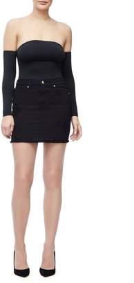 Ga Sale Denim Mini Skirt - Black025