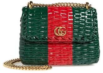 Gucci Small Linea Cestino Glazed Wicker Shoulder Bag