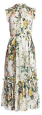 Zimmermann Women's Zippy Floral Frill Dress