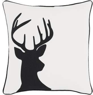 Loon Peak Pirtle Deer Cotton Pillow Cover