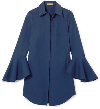 Michael Kors Cotton-blend Poplin Shirt - Blue