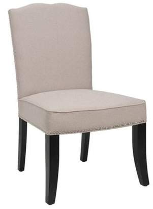 Safavieh Terrie Side Chair, Set of 2, Taupe with Silver Nail Heads