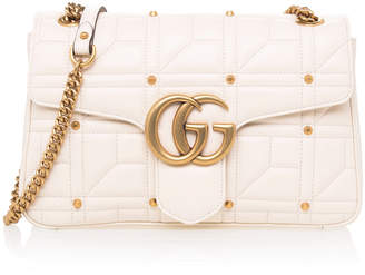 Gucci GG Marmont Studded Shoulder Bag